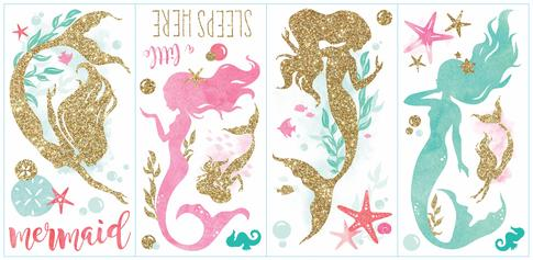 Duvar Stickerı Deniz Kızı