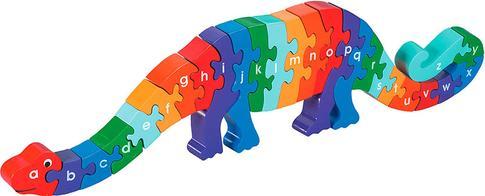 A'dan Z'ye Ahşap Puzzle Oyuncak Dinozor 3 Yaş+