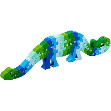 1'den 25'e Ahşap Puzzle Oyuncak Dinozor 3 Yaş+