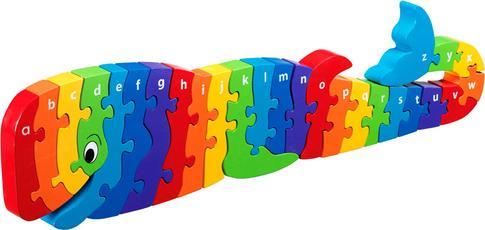 A'dan Z'ye Ahşap Puzzle Oyuncak Balina 3 Yaş+