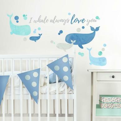 Duvar Stickerı Whale