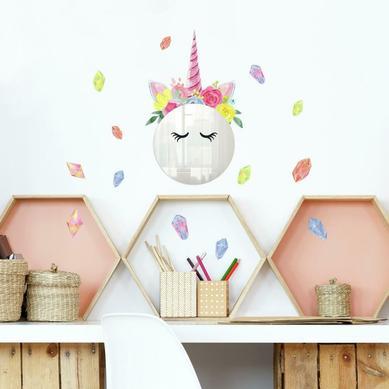 Duvar Stickerı Unicorn ve Çiçekler