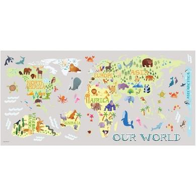 Büyük Boy Duvar Stickerı Dünya Haritası